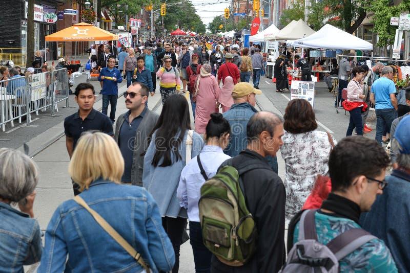 Toronto annual Cabbagetown Festival 2019 stock image