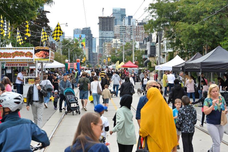 Toronto annual Cabbagetown Festival 2019 royalty free stock photos
