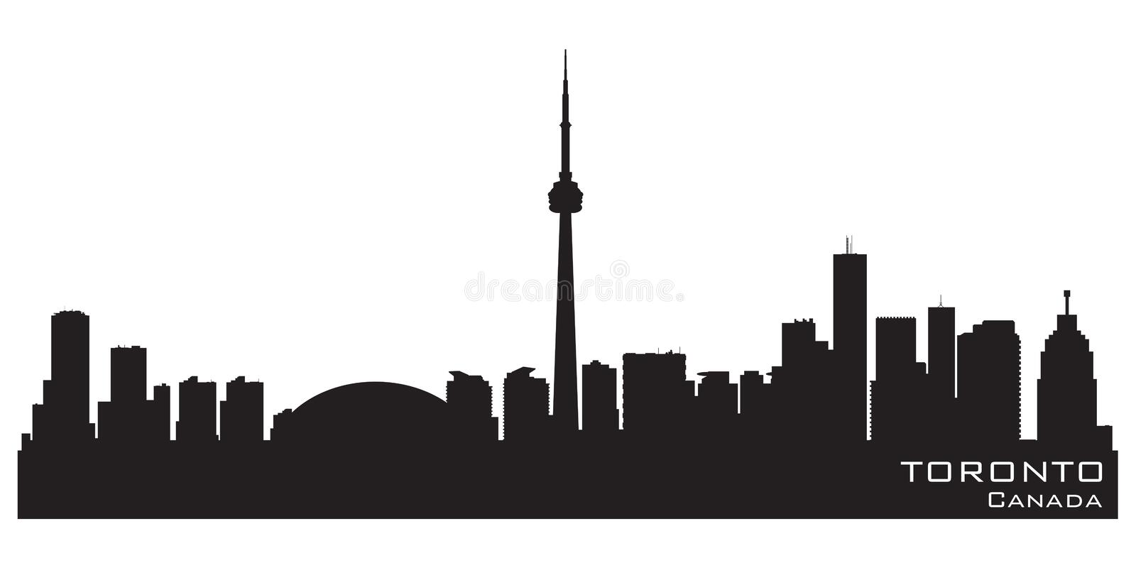 Toronto Canada skyline. Detailed vector silhouette. Toronto Canada skyline background vector illustration royalty free illustration