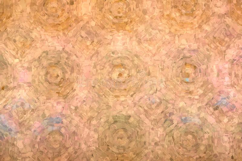 Toronto, Canada, Union Station. Hexagons and squares pattern in the ceiling of the Great Hall in Union Station. The place is a Canadian National Heritage Site vector illustration