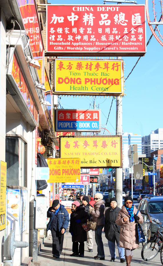 Download Toronto Chinatown editorial photography. Image of stores - 23368212