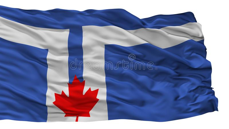 Toronto City Flag, Canada, Isolated On White Background vector illustration