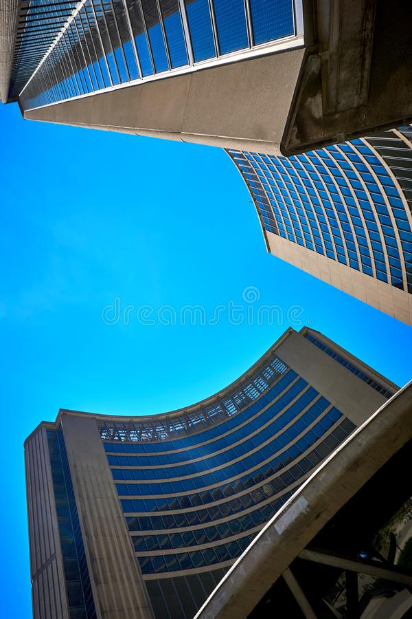 Toronto City Hall Nathan Phillips Square Ontario Canada. Toronto,city, building, architecture, buildings, downtown, urban, tower, tall, nold, tourism, landmark stock photos