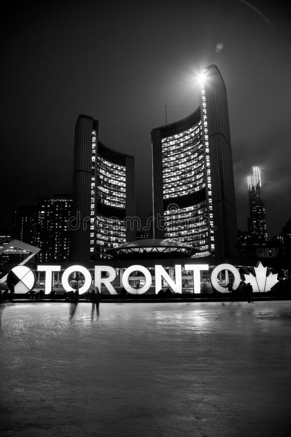 Toronto City Hall during Winter royalty free stock photos
