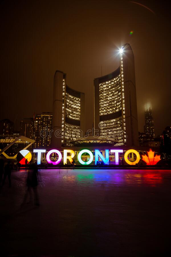 Toronto City Hall during Winter royalty free stock photography