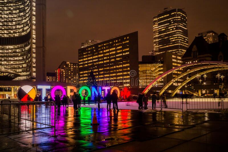 Toronto City Hall during Winter royalty free stock image
