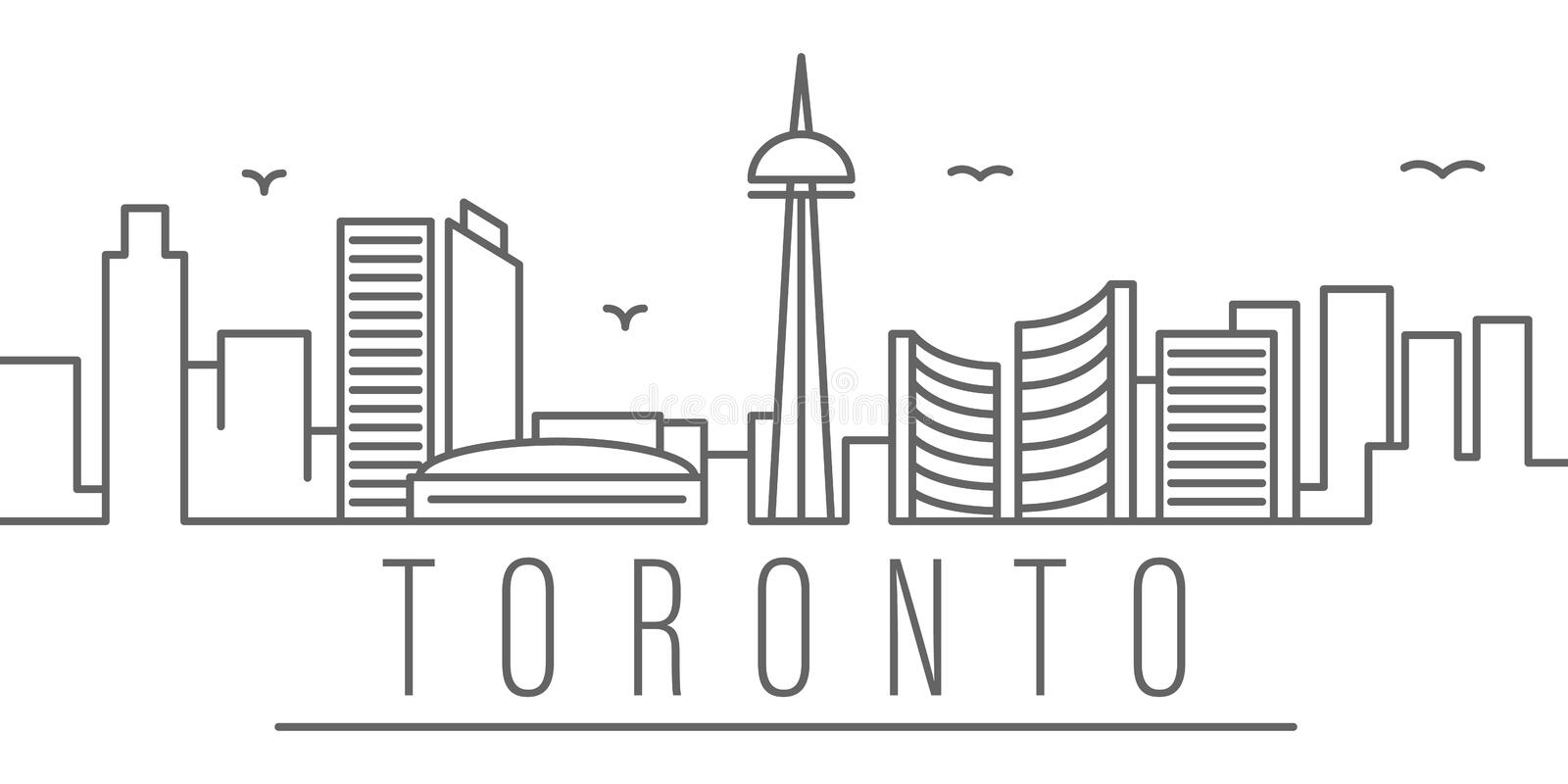 Toronto city outline icon. Elements of cities and countries illustration icon. Signs and symbols can be used for web, logo, mobile vector illustration