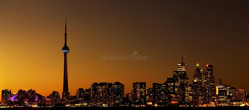 Toronto City Skyline royalty free stock photography