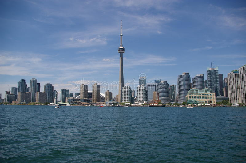 Toronto city skyline royalty free stock photos