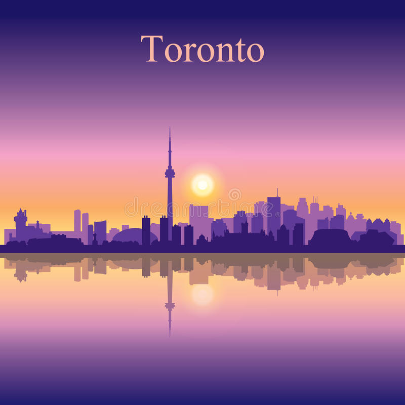 Toronto city skyline silhouette background royalty free illustration
