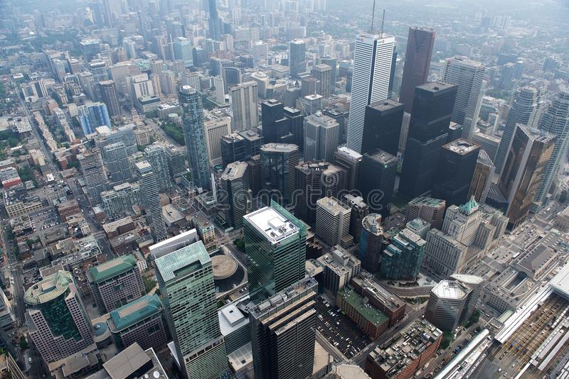 Toronto cityscape, view from the top, Toronto city, Canada. The city of Toronto in landscape format taken from the CN Tower. Toronto cityscape, view from the royalty free stock photography