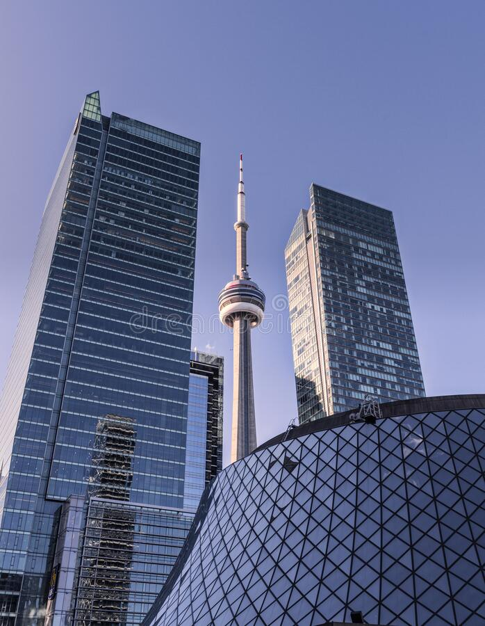 Toronto and the CN tower stock image