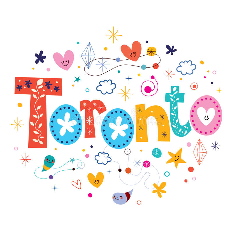 Toronto. Decorative type lettering design vector illustration