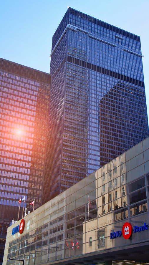 Toronto det finansiella området - ha som huvudämne banker arkivbild