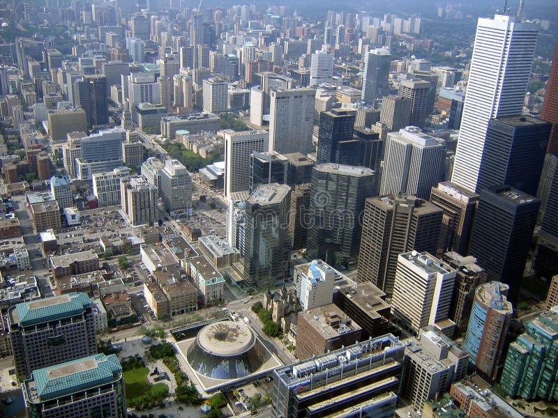 Toronto Downtown Aerial View royalty free stock photo