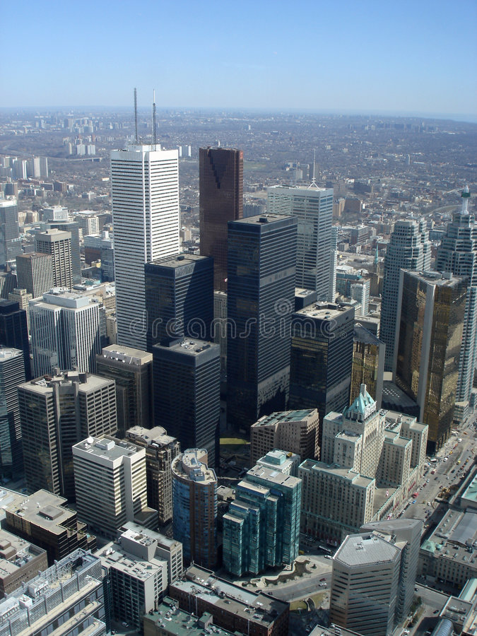 Toronto Downtown High Angle Cityscape royalty free stock photography