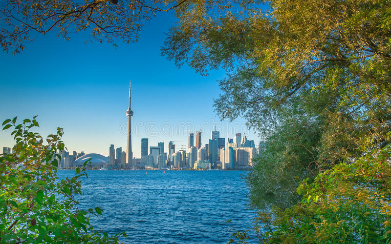 Toronto in early autumn. Early autumn scenery in Toronto, Canada royalty free stock photo