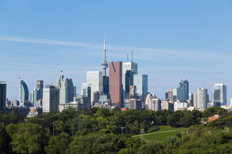 Toronto from the East royalty free stock photos