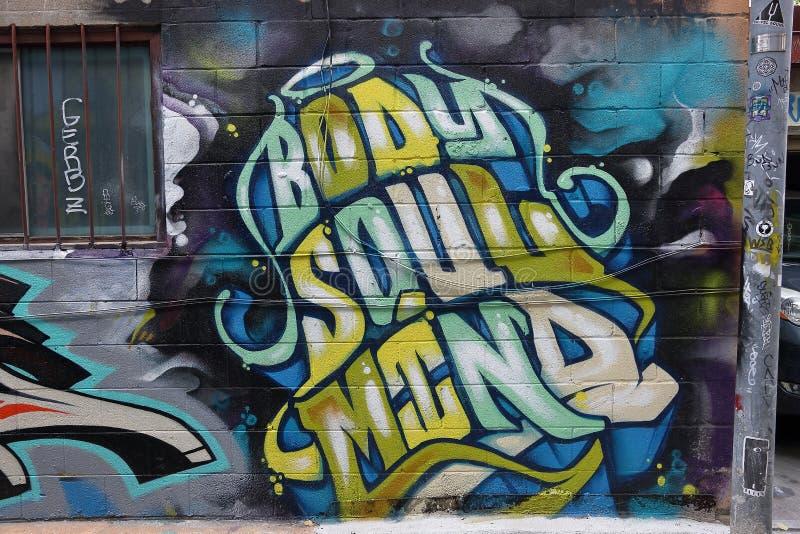 Toronto för väggmålning spadaina 2016 arkivfoto