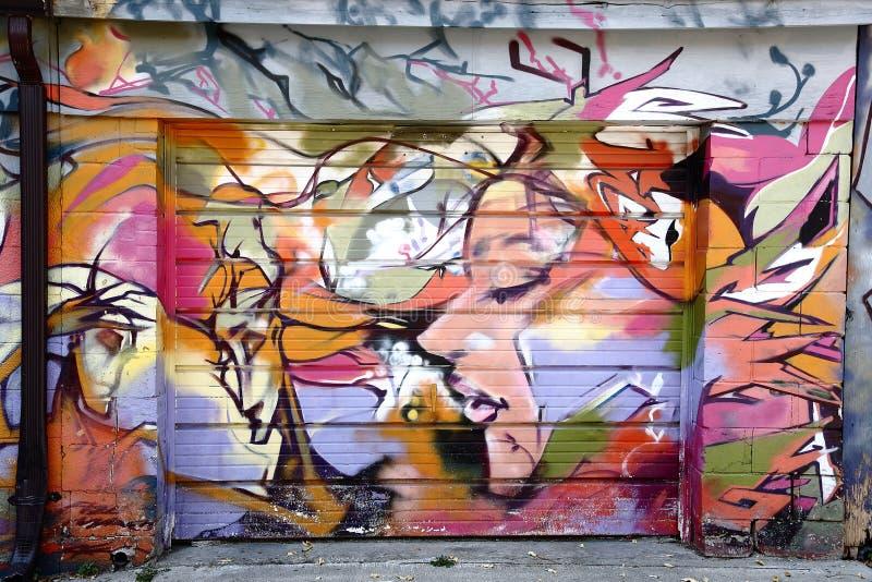 Toronto för väggmålning spadaina 2016 arkivbild
