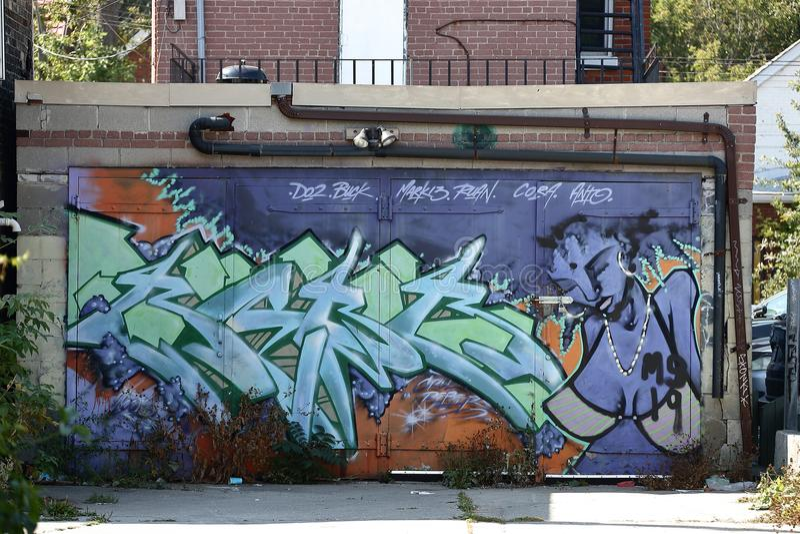 Toronto för väggmålning spadaina 2016 arkivfoton