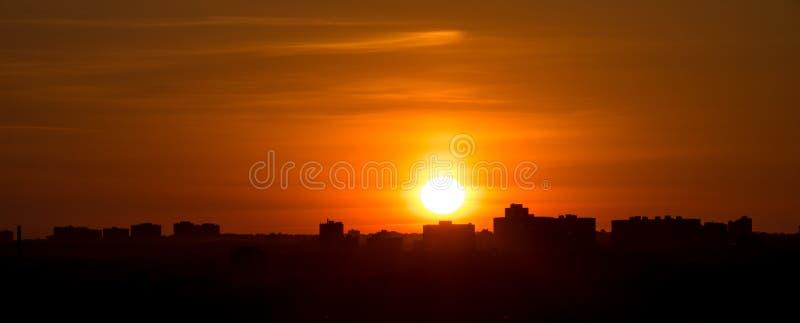 Toronto förorter på solnedgången fotografering för bildbyråer