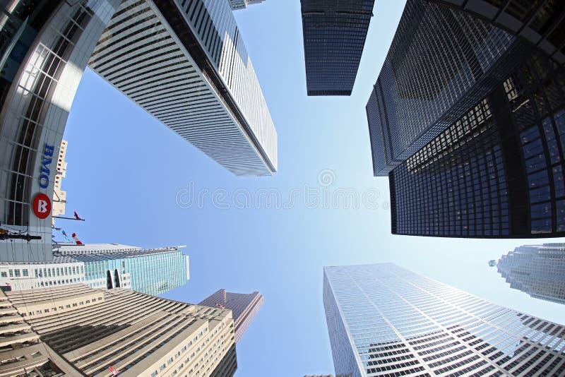 Toronto finansiellt område arkivfoton