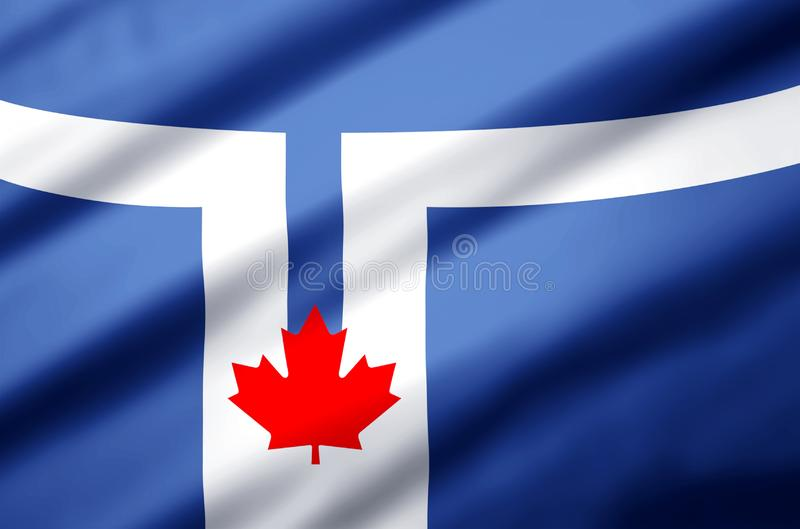 Toronto flag realistic flag illustration. Usable for Background and Texture vector illustration