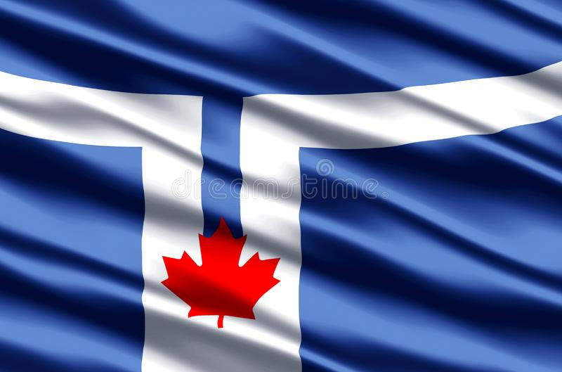 Toronto flag realistic flag illustration. Usable for Background and Texture stock illustration