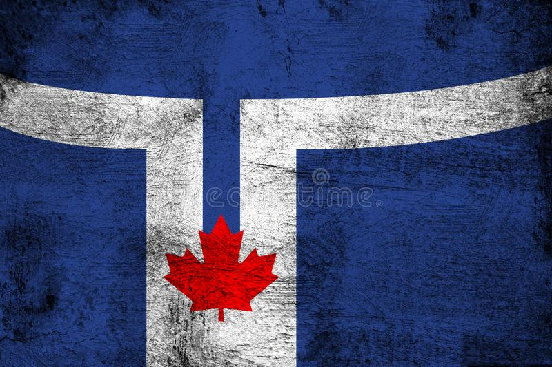 Toronto flag rusty and grunge flag illustration. Usable for background and texture stock illustration