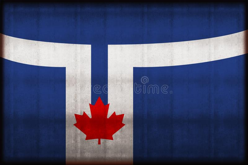 Toronto flag rusty flag illustration. Usable for background and texture stock illustration
