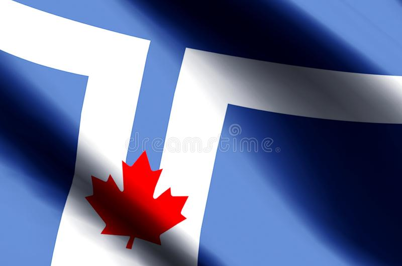 Toronto flag colorful waving and closeup flag illustration. Perfect for texture and background vector illustration