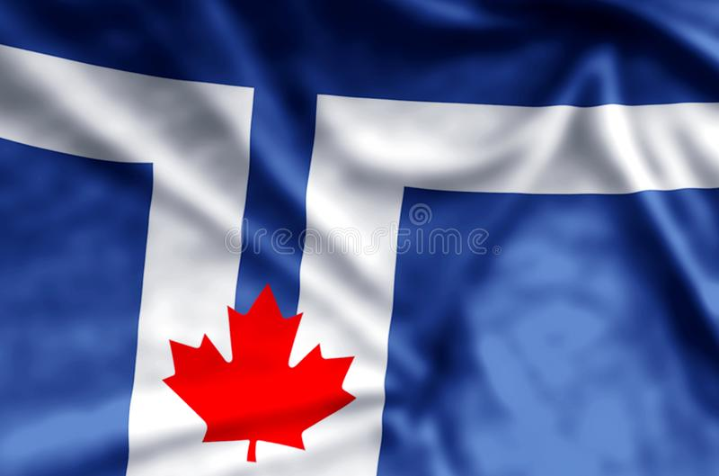 Toronto flag colorful waving and closeup flag illustration. Perfect for texture and background stock illustration