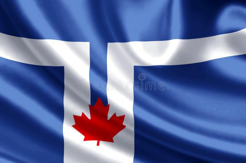 Toronto flag flag illustration. Toronto flag waving and closeup flag illustration. Perfect for background or texture purposes vector illustration