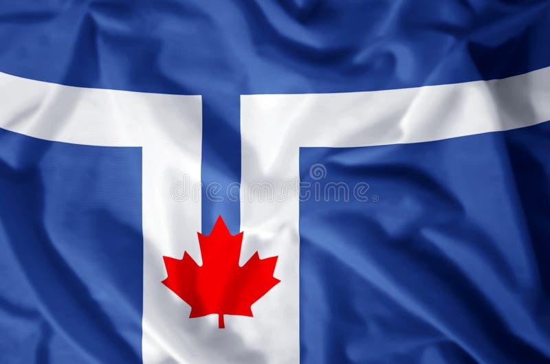 Toronto flaga ilustracja wektor