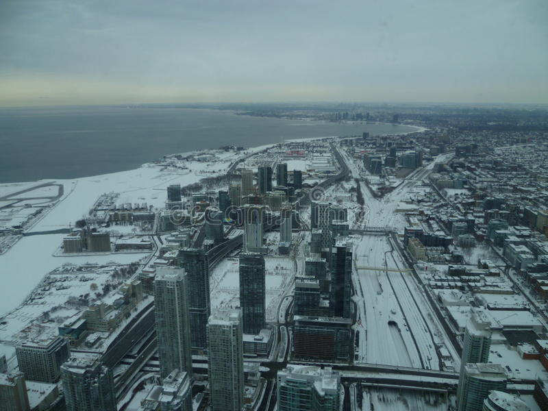 Toronto från himlen royaltyfria bilder