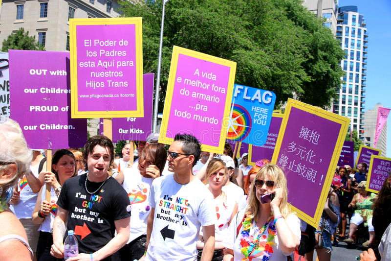 Toronto Gay Pride Parade 2011 stock images