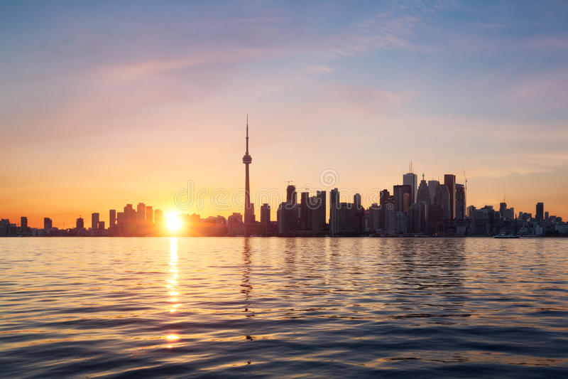 Toronto horisont fotografering för bildbyråer