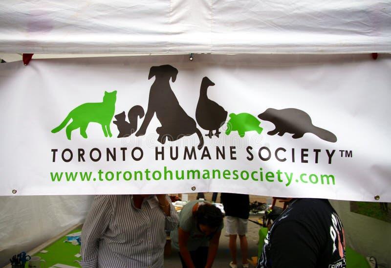 Toronto Humane Society. The Toronto Humane Society tent at a dogs show royalty free stock photography