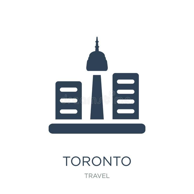 toronto ikona w modnym projekta stylu toronto ikona odizolowywająca na białym tle toronto wektorowej ikony prosty i nowożytny pła royalty ilustracja