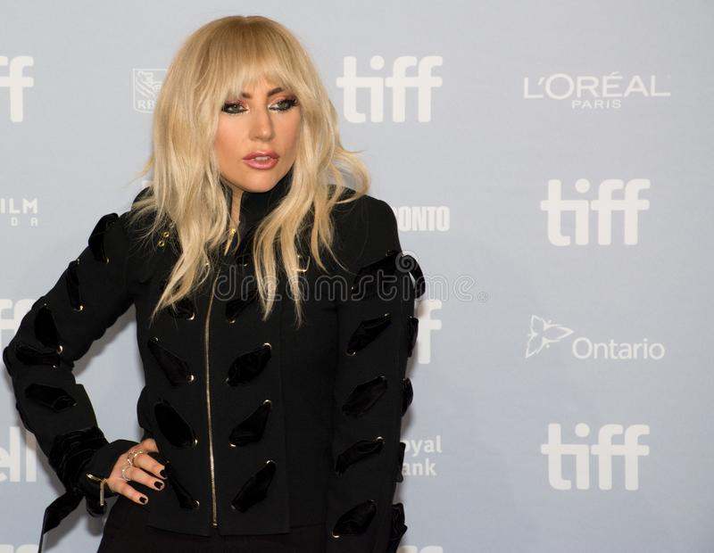 Lady Gaga - `Lady Gaga: Five Foot Two` Press Conference. Singer Lady Gaga at the premiere of her music documentary `Lady Gaga: Five Foot Two` press conference royalty free stock photo