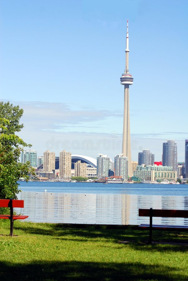 Toronto from the Island stock images