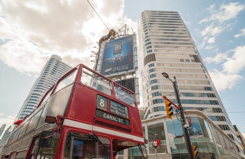 TORONTO - JULY 12, 2008: City buildings on a summer day. Toronto royalty free stock image