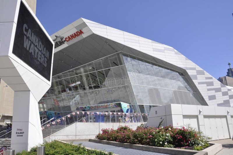 Toronto, 24 Juni: De Bouw van het Ripley` s Aquarium van Toronto in de Provincie Canada van Ontario royalty-vrije stock foto's