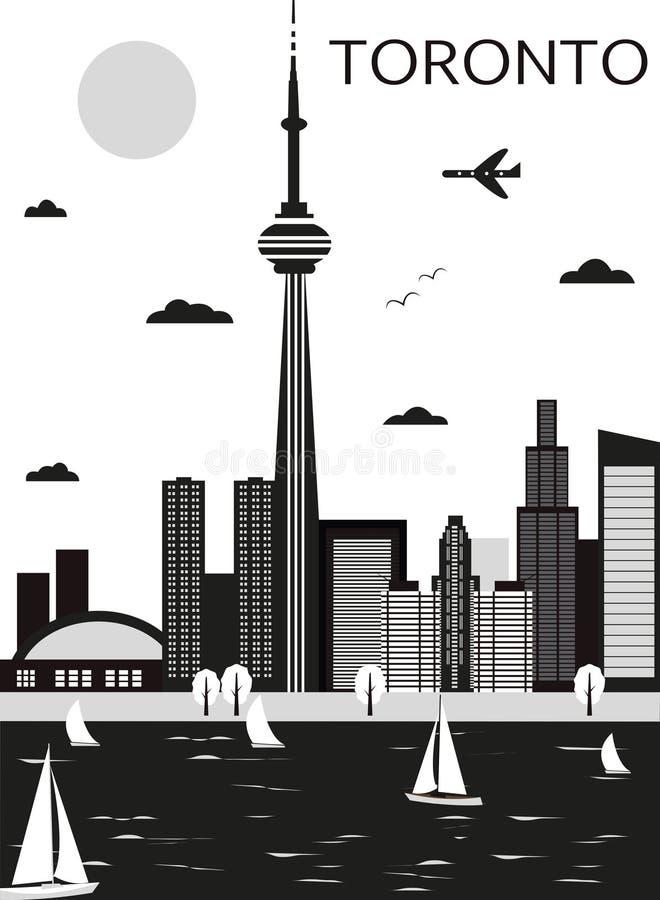 toronto Kanada vektor illustrationer