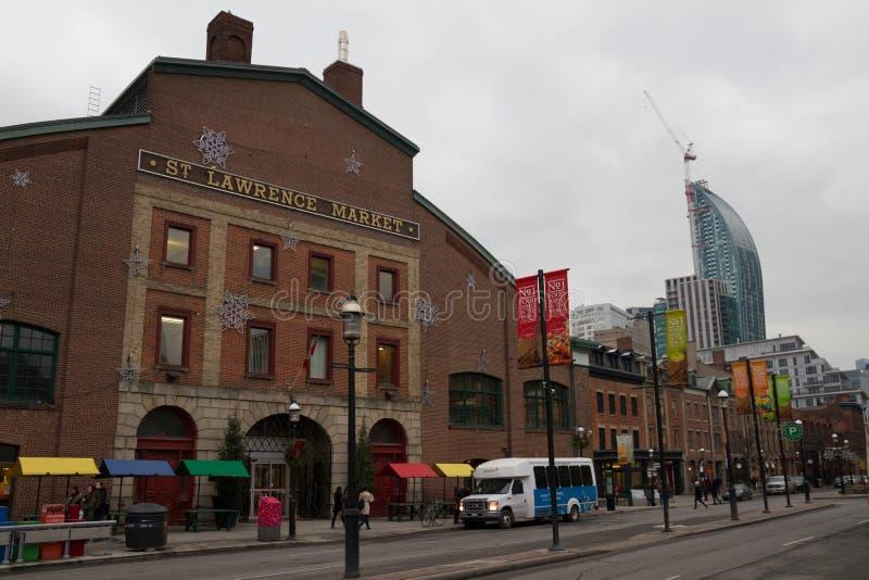 Toronto Kanada - Januari 27, 2016: Toronto sikt av St Lawrence arkivfoton