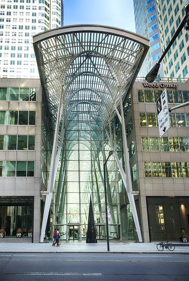 Toronto Kanada - Maj 13, 2018: Det Brookfield stället i Toronto Det Brookfield stället är ett kontor och ett centrum för shopping royaltyfria bilder