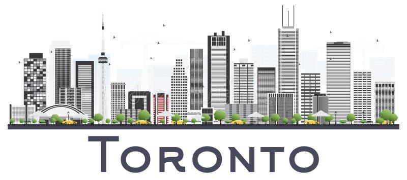 Toronto Kanada miasta linia horyzontu z kolorów budynkami Odizolowywającymi na Whi ilustracji