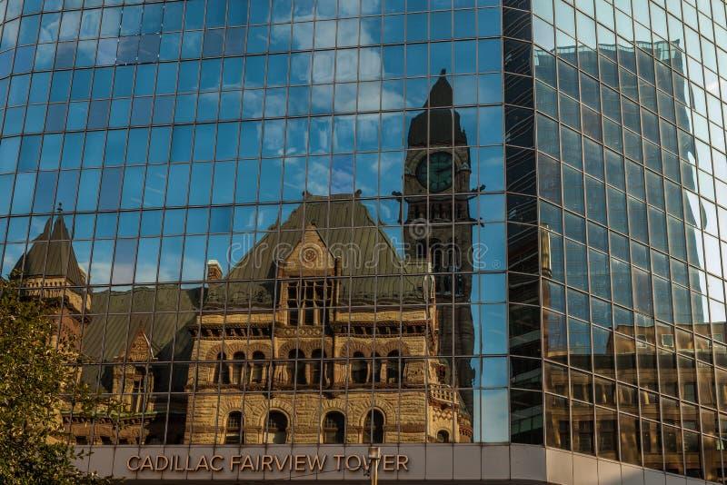 Toronto KANADA - Oktober 10, 2018: Ontario lagstiftnings- byggnad royaltyfria foton