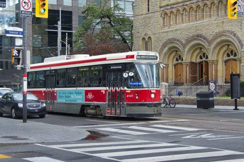 Toronto, Kanada tramwaj, tramwaj/ fotografia stock